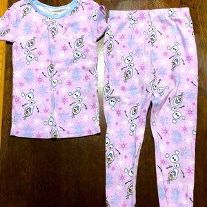 Olaf Frozen Pajamas Size 5T